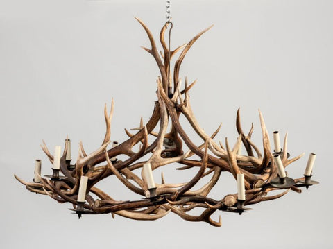 A Red Deer Antler Chandelier