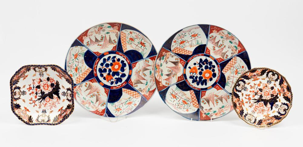 A Pair of Imari Chargers, Late 19th Century
