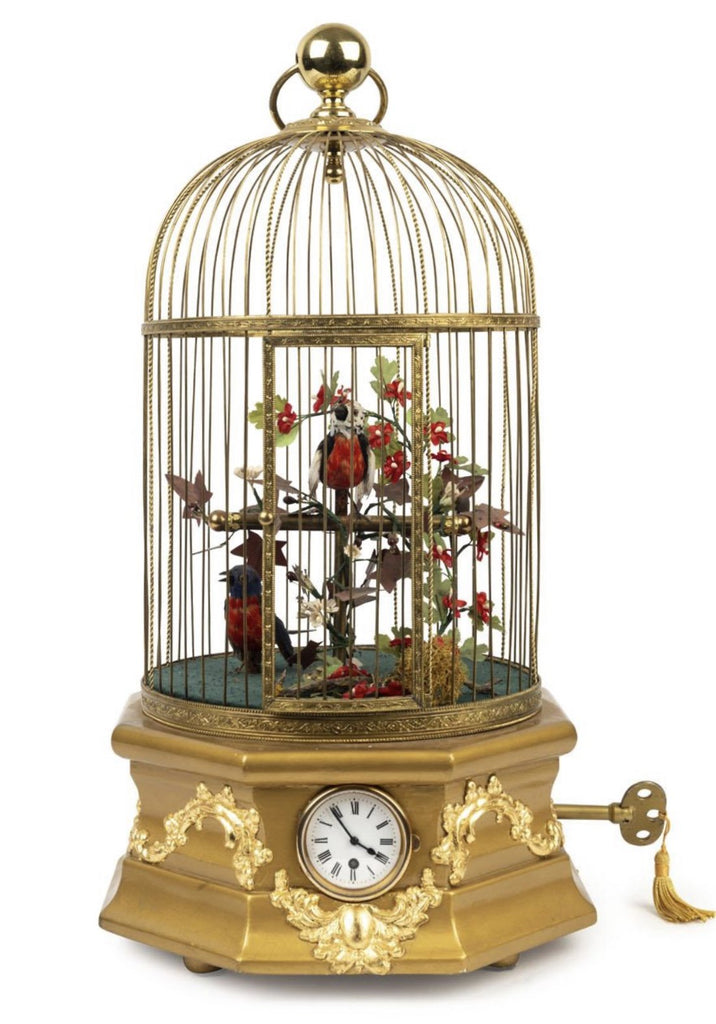 A French 19th Century Singing Birdcage Timepiece