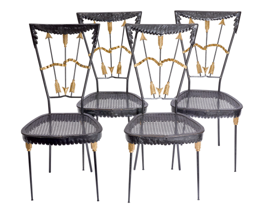 A Set of Four Italian Chairs by Tomaso Buzzi Circa 1940