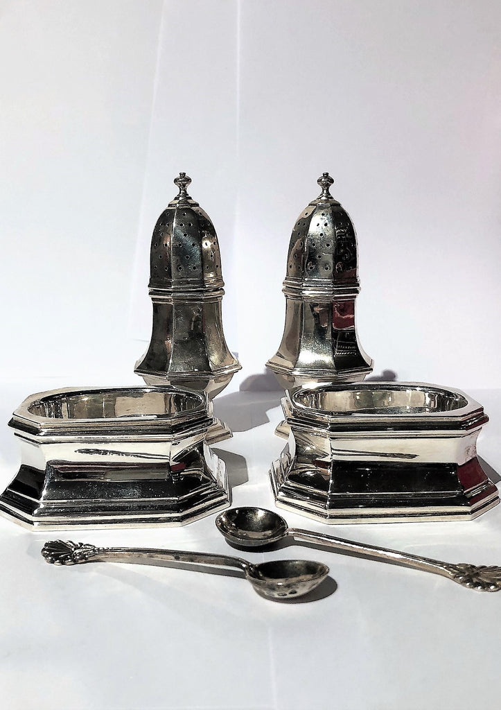 A Silver Plated Condiment Set
