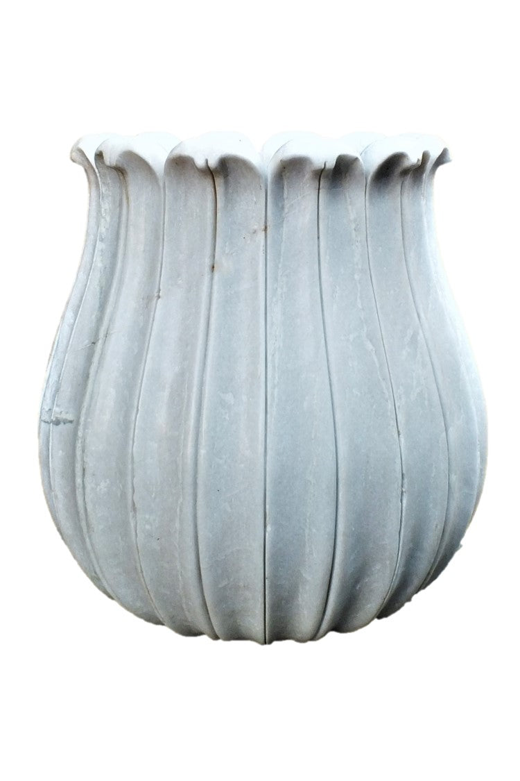 A Pair of Marble Tulip Pots