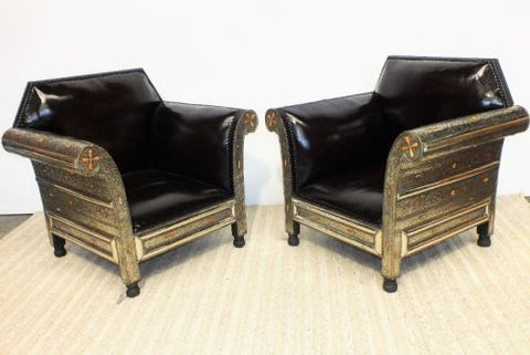 Pair of Moroccan Armchairs