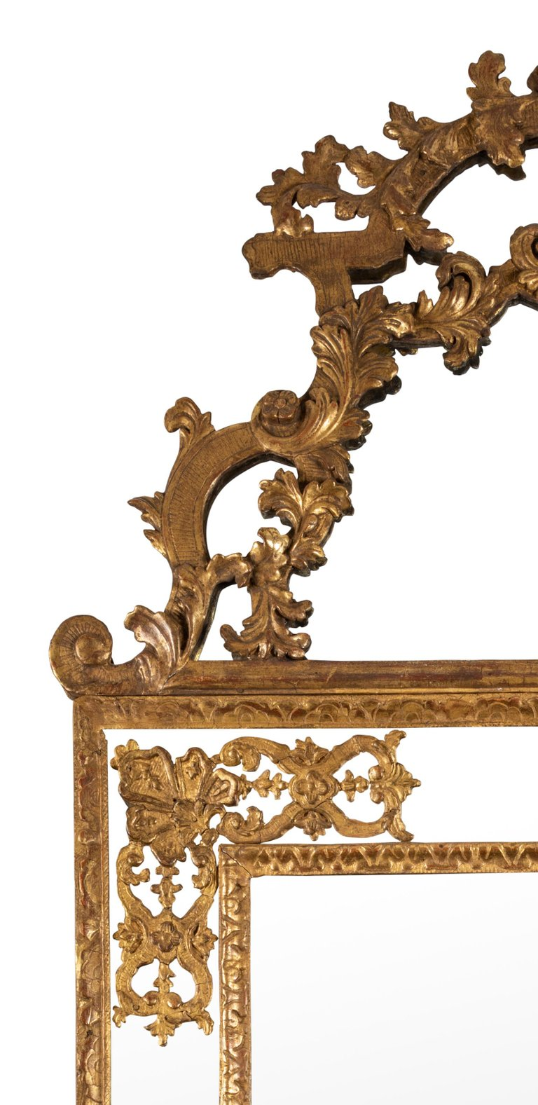 Early 19th Century French Gilt Louis XV Style Mirror