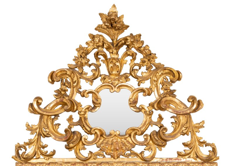 Late 18th Century Italian Cushion Fronted Mirror