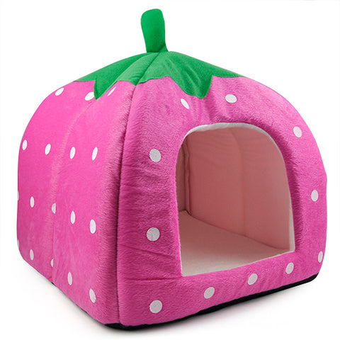 Strawberry Dog/Cat House
