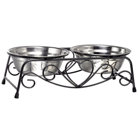 Stainless Steel Bowls w/ Stand Feeder