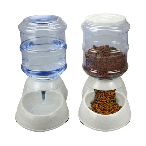 Automatic Pet Feeder & Drinking Fountain