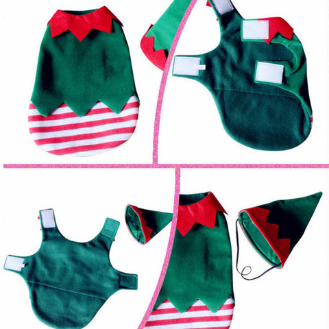 Christmas Elf and Witch Costumes S-XL
