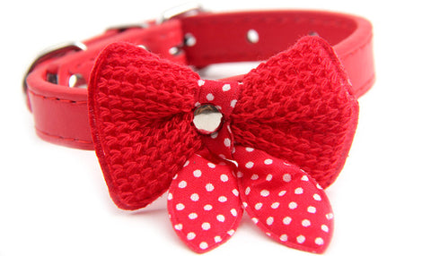 Cute Bow Collar for Cats and Small Dogs