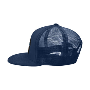 'Tribe Badge' navy blue Hip Hop cap by Tony