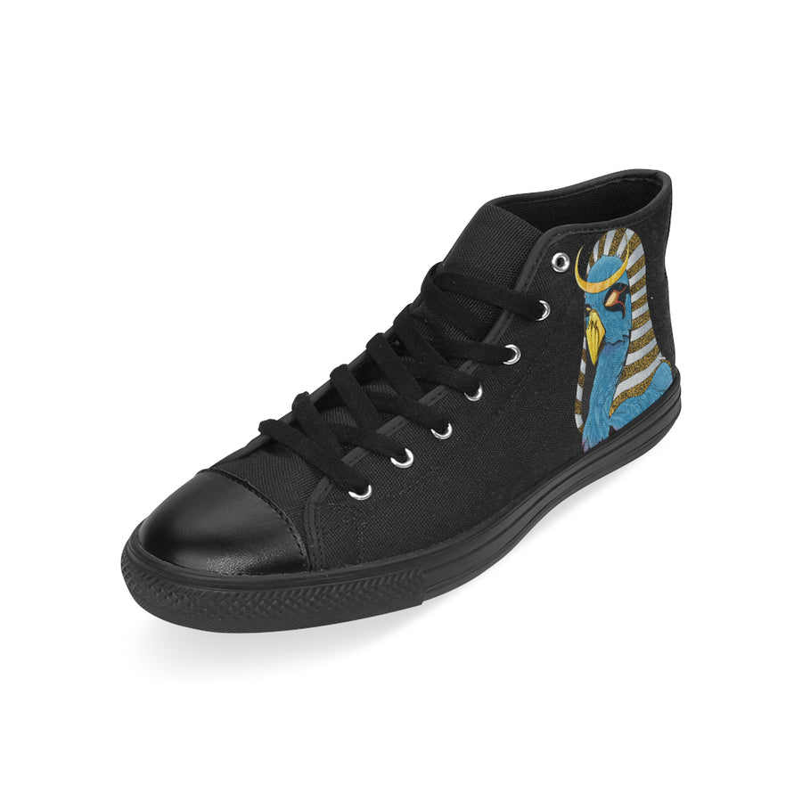 'RA' Mens Black High Top Sneakers