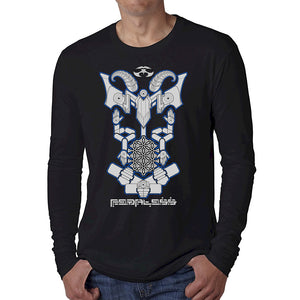 Nick's Baphomet DMT Entity Long Sleeve Shirt Black