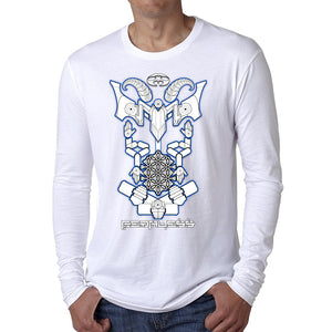Nick's Baphomet DMT Entity Long Sleeve Shirt White