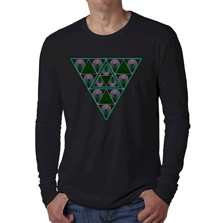 Nick's FearLess Triangle Down Long Sleeve Black