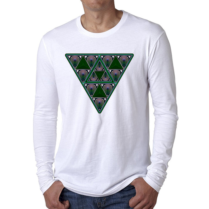 Nick's FearLess Triangle Down Long Sleeve White