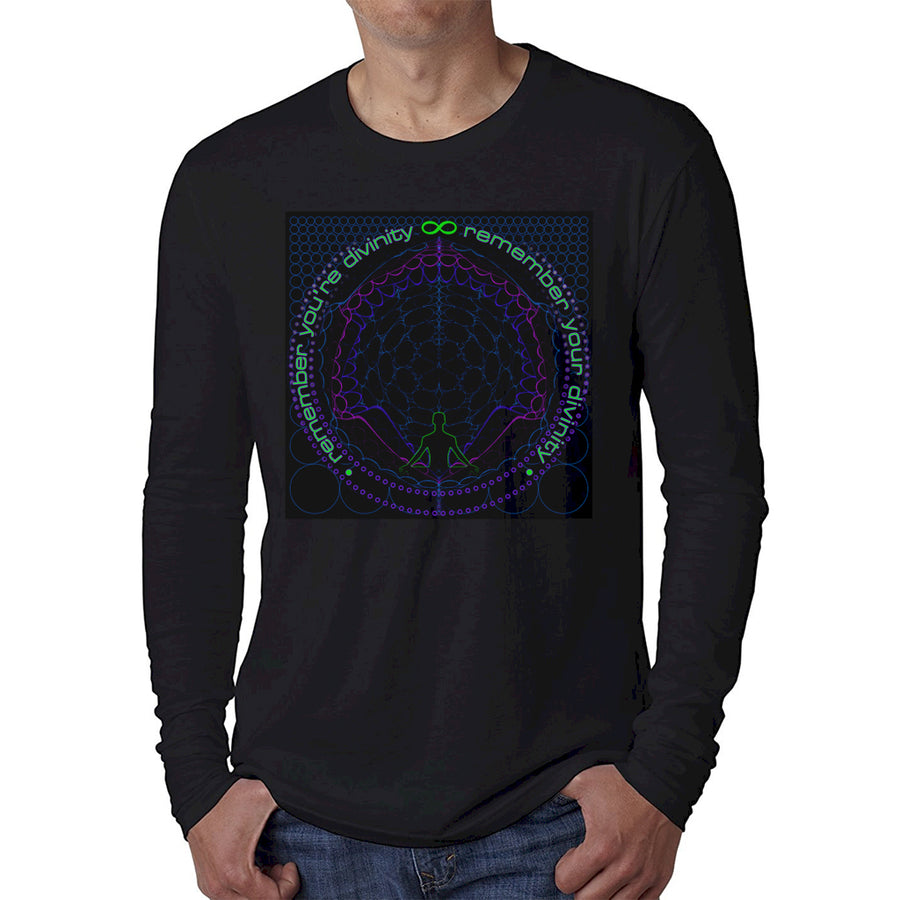 Nick's Remember Your Circle Long Sleeve Fitted Crew Black