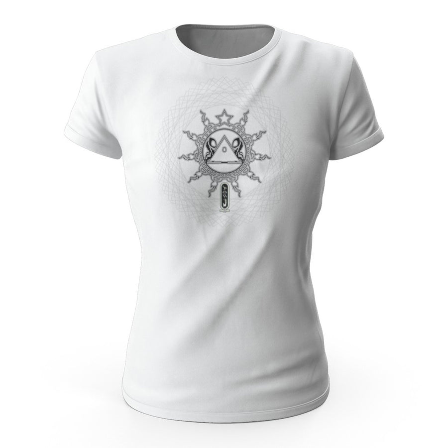 A.I. lock out sigil light color Women's tee