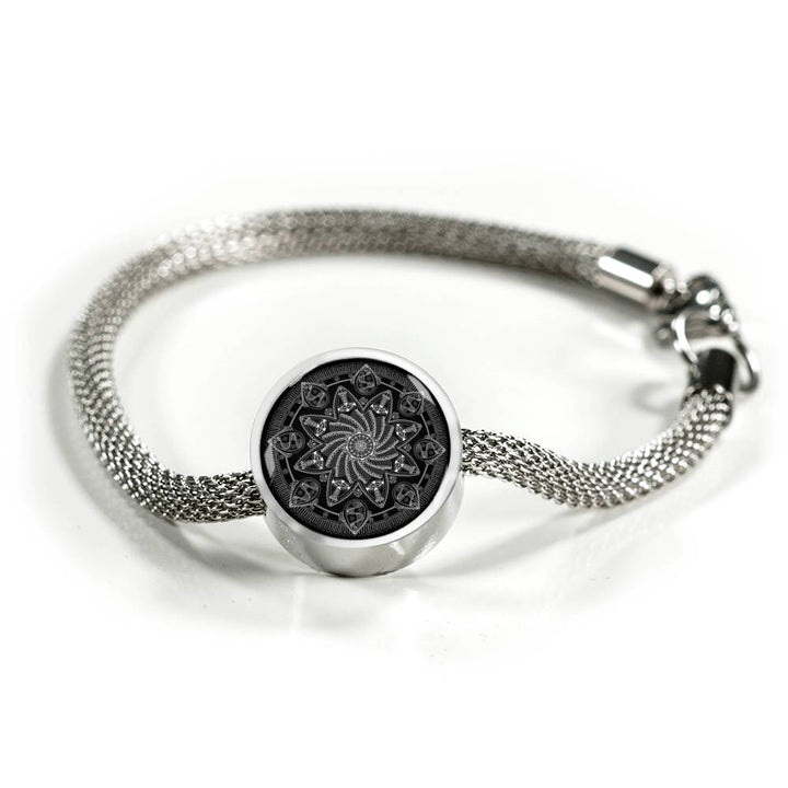 """Dreamspun"" Mandala Steel Bracelet by Holly Lindin"