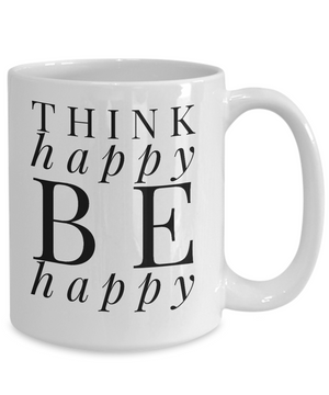 Think Happy White Mug
