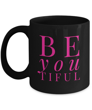 BeYOUtiful Mug - Black and Pink