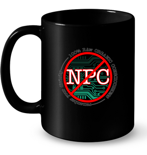 'Not an NPC' Mugs by Nick Zervos