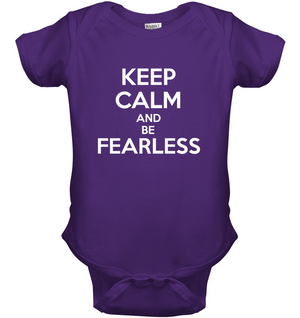 'Keep Calm and Be Fearless' Kids Tops by Holly Lindin