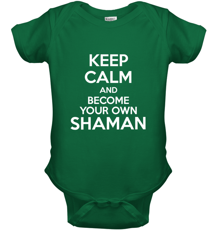 'Keep Calm and Become Your Own Shaman' Kids Tops by Holly Lindin