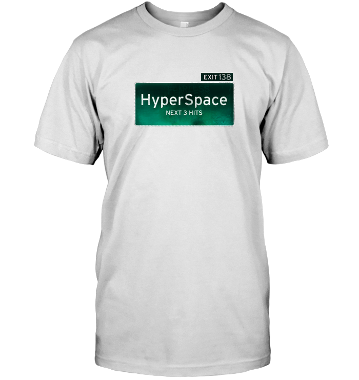 'HyperSpace Exit' Tees by Nick Zervos