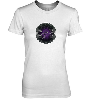 'DMT Molecule' Womens Apparel by Nick Zervos