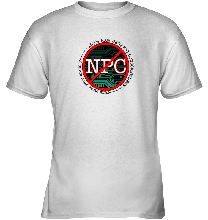 'Not an NPC' Tees by Nick Zervos