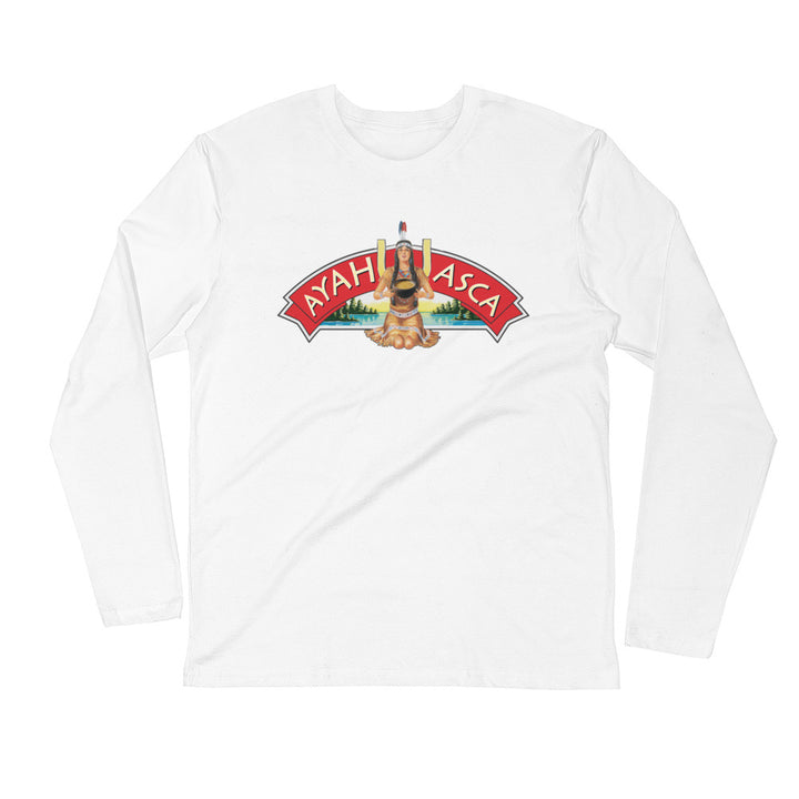 Ron's Ayahuasca Woman - Men's Long Sleeve Fitted Crew