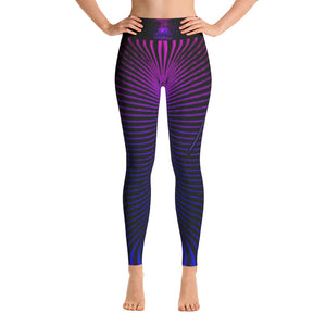 Womens Purple Prana Tube Yoga Leggings by Shaman Ron