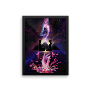 RAw Mission Support Ron's Twin Flames Framed Poster