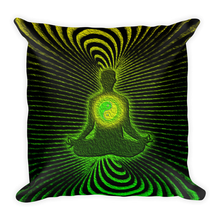 Ron's Prana Tune Green Pillow