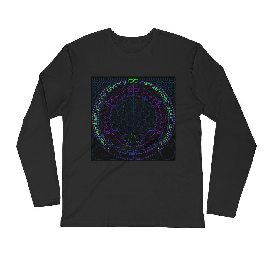 Nick's Remember Your Circle Long Sleeve Fitted Crew