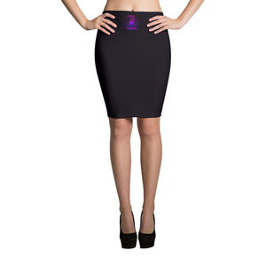 Ron's Prana Tube Purple Pencil Skirt
