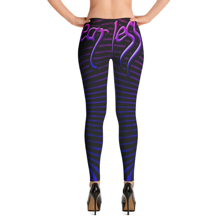 Womens Purple Prana Tube Leggings by Shaman Ron