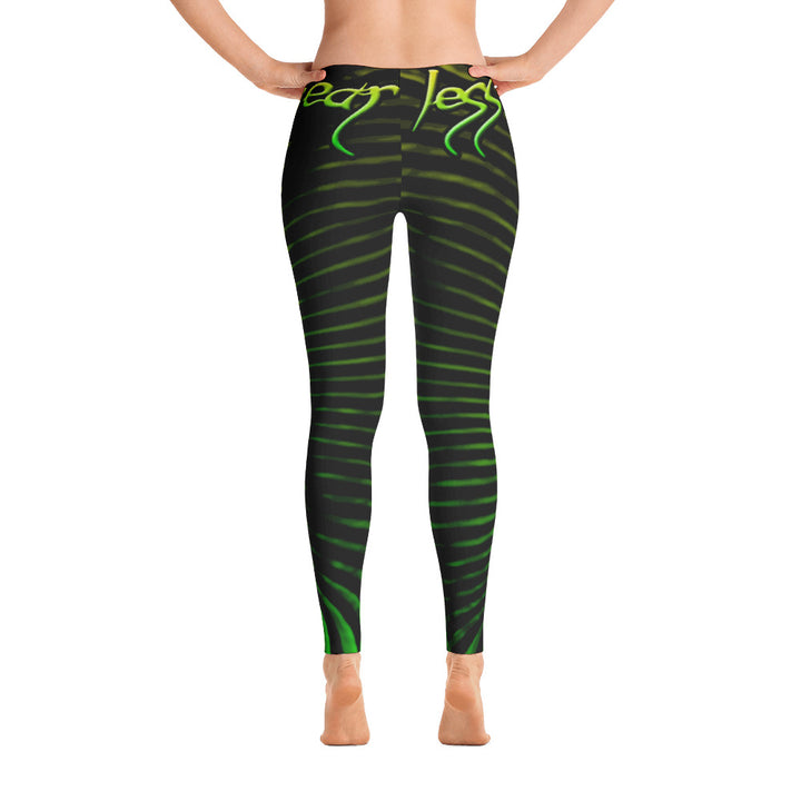 Womens Green Prana Tube Leggings by Shaman Ron