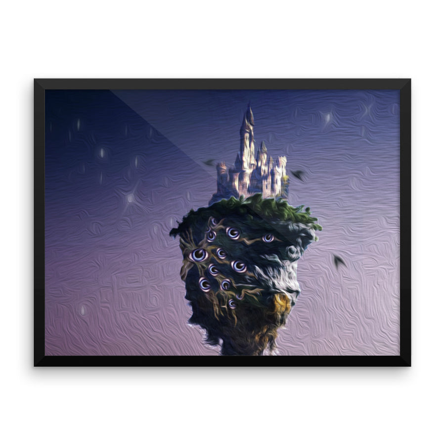 Ron's Floating Castle - Framed Poster