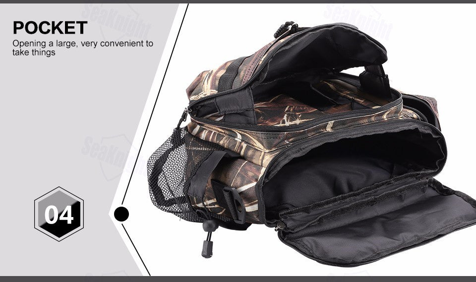 SeaKnight Multifunctional Fishing Bag approx. 13.2 x 7.3 x 8.0 inches