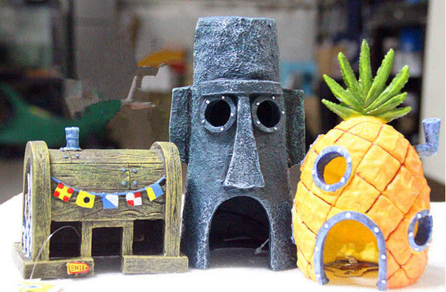 3pc SpongeBob Aquarium Ornaments