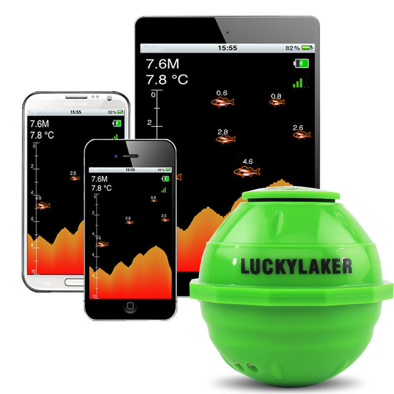 Lucky Sonar Wireless WIFI Fish Finder 50M/130ft Android/iOS Alarm
