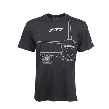 737 MIDNIGHT SILVER T-SHIRT