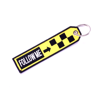 FOLLOW ME (BLACK AND YELLOW) KEYCHAIN