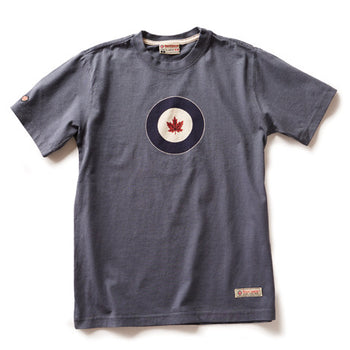 RCAF T-SHIRT, WASHED BLUE