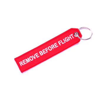 REMOVE BEFORE FLIGHT (ORIGINAL RED) KEYCHAIN