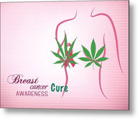 Breast Cancer Cure Awareness - Metal Print