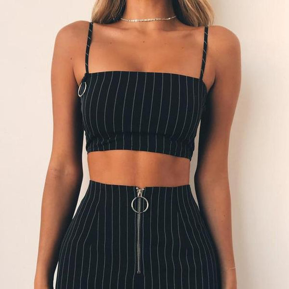 Pin Stripe Cami - tops - llenora