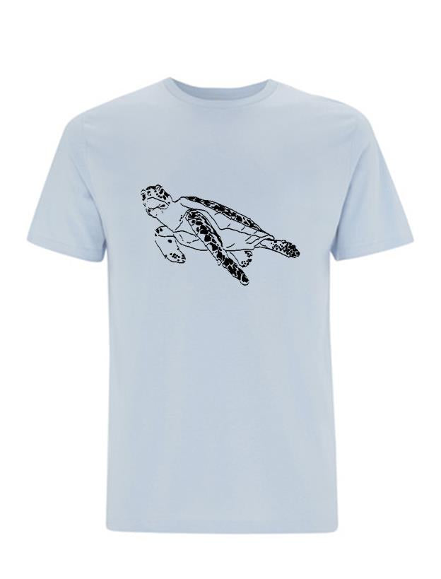 Turtle T-shirt - light blue